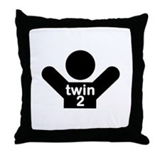 Twin 2 Throw Pillow