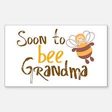 Soon to be Grandma Rectangle Decal