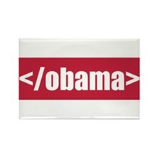 </obama> Rectangle Magnet