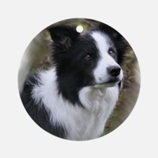 Border Collie Art Ornament (Round)