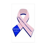 Male Breast Cancer Rectangle Sticker 50 pk)