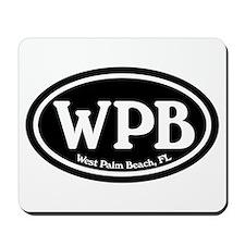 WPB West Palm Beach Oval Mousepad