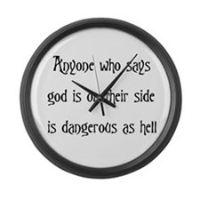 God On Their Side Large Wall Clock