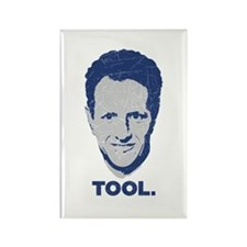 Geithner Tool Blue Distressed Rectangle Magnet