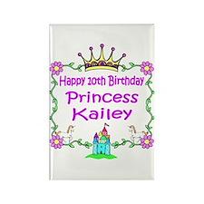 -Princess Kailey 10th Birthday Rectangle Magnet