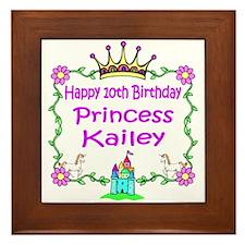 -Princess Kailey 10th Birthday Framed Tile