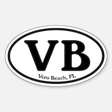 VB Vero Beach Oval Oval Decal