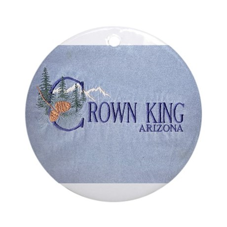 Crown King Ornament (Round)