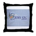 Crown King Throw Pillow