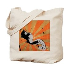 Retro Squirrel Tote Bag