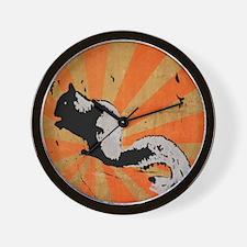 Retro Squirrel Wall Clock