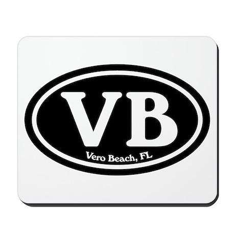 VB Vero Beach Oval Mousepad