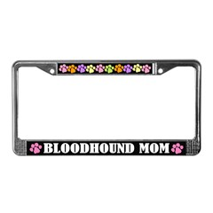 Bloodhound Mom Pet License Plate Frame