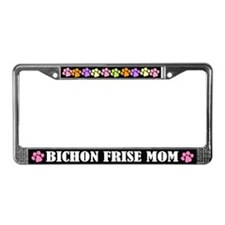 Bichon Frise Mom Pet License Frame