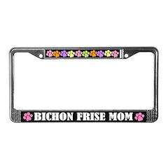 Bichon Frise Mom Pet License Frame
