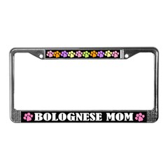 Bolognese Mom License Frame Gift