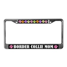 Border Collie Mom License Frame Gift