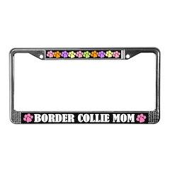 Border Collie Mom License Frame Gift