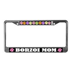 Borzoi Mom License Frame Gift