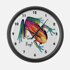 Got Frog? Large Wall Clock