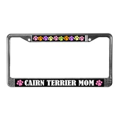 Cairn Terrier Mom License Frame Gift