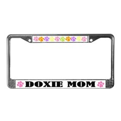 Doxie Mom License Plate Frame Gift