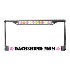 Dachshund Mom Dog License Plate Frame
