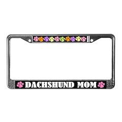 Dachshund Mom License Plate Frame Gift