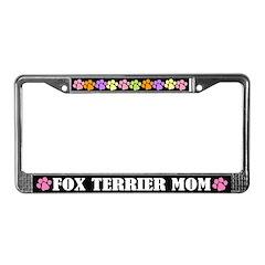 Fox Terrier Mom License Plate Frame Gift