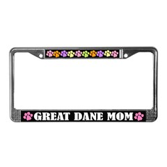 Great Dane Mom License Plate Frame Gift