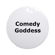 Comedy Goddess Ornament (Round)