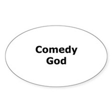 Comedy God Oval Decal