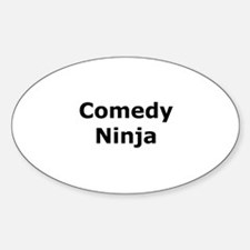 Comedy Ninja Oval Decal