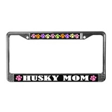 Husky Mom License Plate Frame Gift
