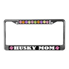Husky Mom License Plate Frame Gift