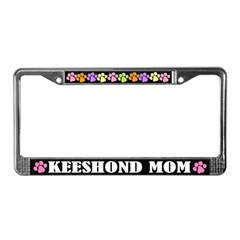 Keeshond Mom License Plate Frame Gift