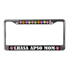 Lhasa Apso Mom License Plate Frame Gift