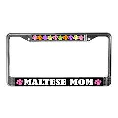 Maltese Mom License Plate Frame Gift