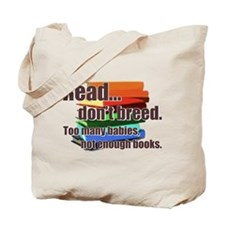 Read Don't Breed Tote Bag