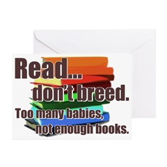 Read Don't Breed Greeting Cards (Pk of 20)