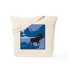 Rustic Mountain Moose Tote Bag
