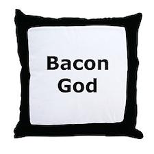 Bacon God Throw Pillow