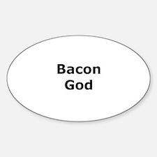 Bacon God Oval Decal