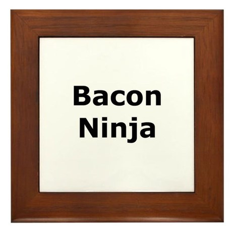 Bacon Ninja Framed Tile