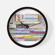 Bunco Wall Clock