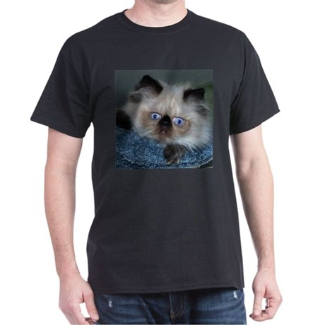 Blue-Eyed Himalayan Cat Black T-Shirt
