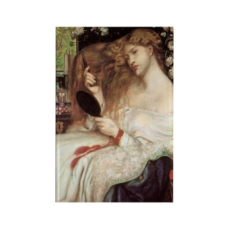 Lady Lilith by Dante Rossetti Rectangle Magnet (10