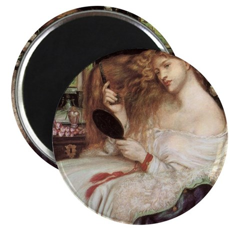 """Lady Lilith by Dante Rossetti 2.25"""" Magnet (100 pa"""