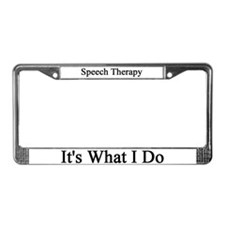 Speech Therapist License Plate Frame