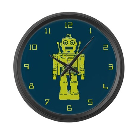 Red Robot Large Wall Clock